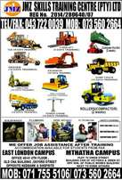 TLB,excavator, training and all other courses at jmz skills training