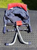Camping Cot, Walking Ring, clip on chair & simphony in motion