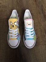 Trampki Pora na przygodę malowane buty Adventure time