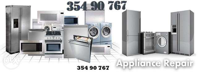 Washing machine, Dryer, Dishwasher, Fridge repair and maintenance