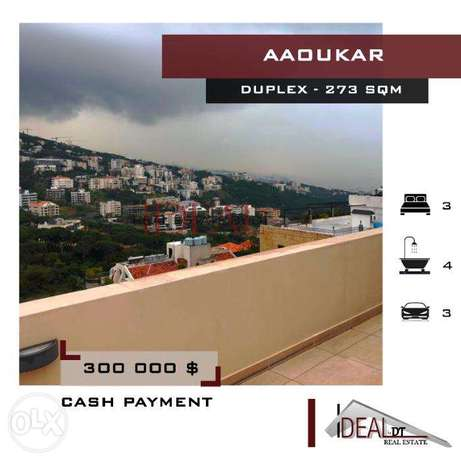 Duplex with mountain view in Aaoukar Belle Vue, 273 SQM. REF#MN60010