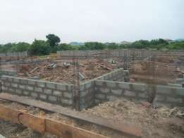 Land with footing for sell at new Legon