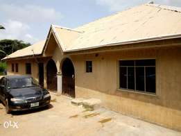 Twin bungalow with three bedroom flat each