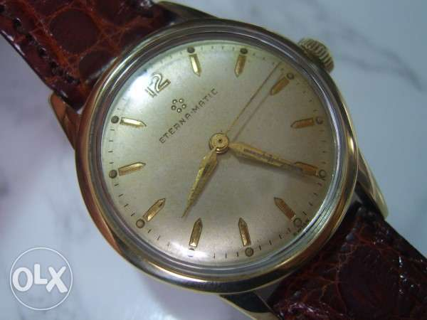Eterna-Matic 14k / Steel Automatic Watch in Excellent Condition
