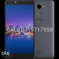 Tecno L9 Plus, Fingerprint, 16GB rom, 2GB ram, 6inches,5000mAh, Dual