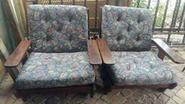 2 vintage retro chairs