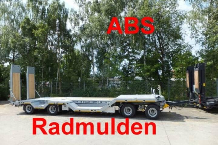 Möslein T4- R VB H1 4 Achs Tieflader mit Radmulden, ABS - 2019