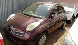Nissan March,new import,red wine,multi functional steering switches.