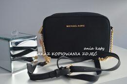 8463e4831aac5 Czarna torebka Michael Kors Jet set Travel MINI MAŁA Z ŁAŃCUSZKIEM