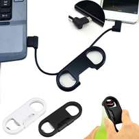 3 in 1 Sync USB Cable Data Line + Bottle Opener + Key Chain Android