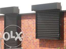 Roller shutters at 8,500/- pet square meter.
