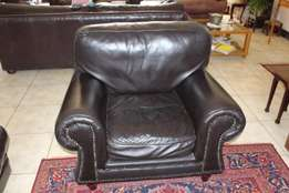 Leather couch and chair in excellent condition.