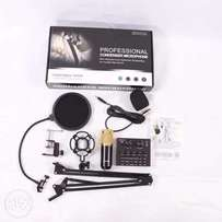 V8 sound card +professional condenser microphone and stand