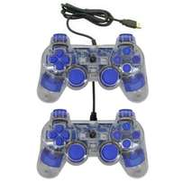Transparent Dual Vibration Analog Game-pad For PC