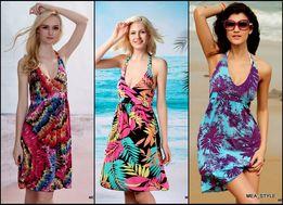 80b07d1b6d sukienka PLAŻOWA wiązana pareo KOLORY HIT WYPRZEDAŻ !