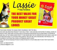 Dog food lassie.distributors agents wholeasalers wanted