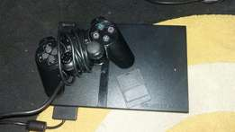 playstation with controls steering box pedal 50 games