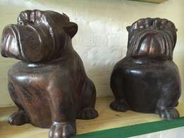 Stunning Bull Dogs Statues