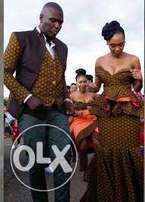 African design for wedding and ceremony