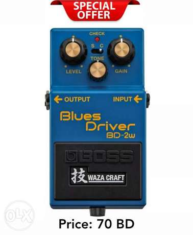 Boss BD-2W Blues Driver Waza Craft Guitar Effect Pedal now available
