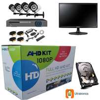 HD AHD CCTV Kit - 4 Channel CCTV DIY with Hard Drive and Monitor