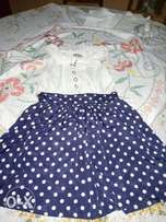 Dress. skater polka dots
