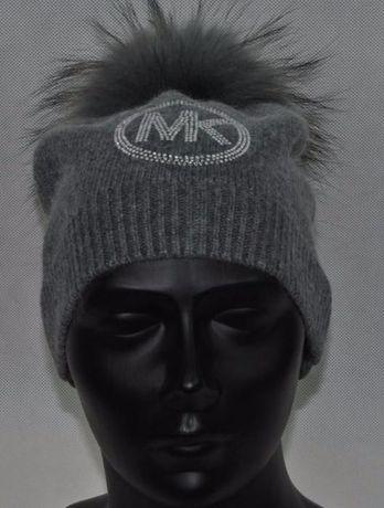 749810dae1d07 wełniana czapka biała czarna szara beż cyrkonie logo mk michael kors Wrocław  - image 8