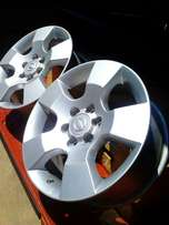 "4*16"" Nissan Navara rims. 4 splinter nuut in bokse. R4000."