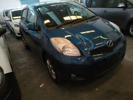 Toyota Vitz blue colour KCM number 2010 model loaded with good mu