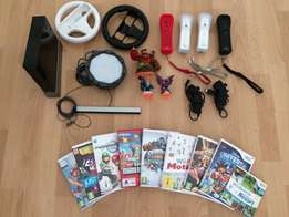 Wii console, games and accessories for sale