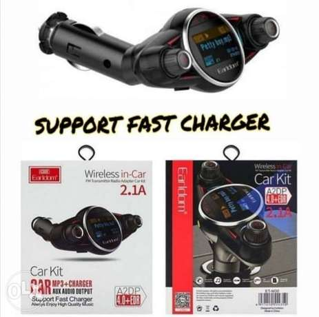 EARLDOM ET-30 Car Wireless FM Transmitter MP3 Player With Fast Charger