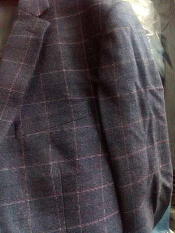 Navy Blue Checked suits for men. Smoothly polished wool. FREE DELIVERY Nairobi CBD - image 8