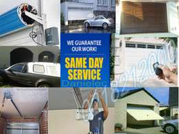 Garage door installation and servicing by experts at Danielec