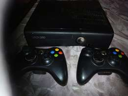 Slightly used Xbox 360 slim Console with 2 free controllers