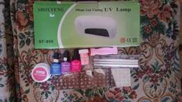 Nail uv light and accessories