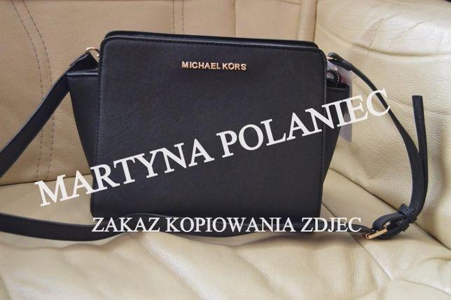 7f5d6fe1f0ccc Czarna torebka MK selma mała mini listonoszka na ramię MICHAEL KORS Lesko -  image 1