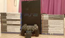 PS2 + 25Games + Cables + Memory Card + Controller
