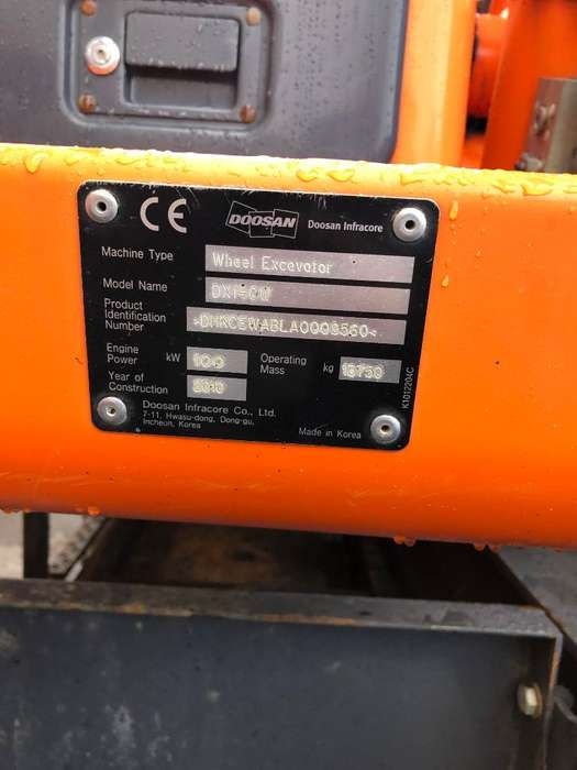 Doosan Dx 140 W - 2010 for sale | Tradus