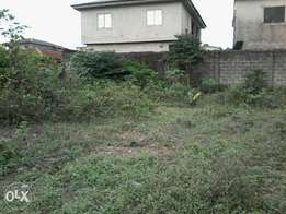 60 by 75 fenced nd gated land in an estate.C of O.fagba N6,5mill
