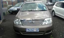 Toyota corolla 1,4 5 Doors Model 2007 Colour Gold Factory A/C&CD Play