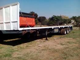 Flat deck tri Axle Trailer