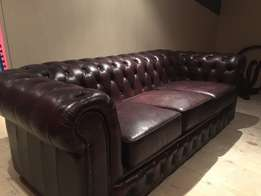 Bovine Leather Chesterfield Style Sofas