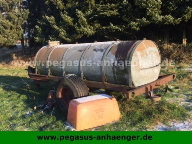 Wasserfass 3000L, Stützrad, verzinkt - 2000