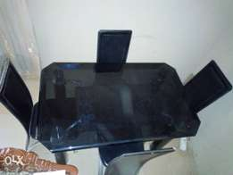 Glass Dinning table 4 sale