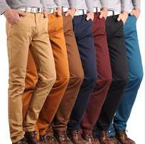 Men's Khaki Chinos Trouser Pants From I-Bid