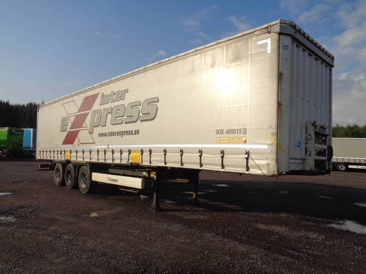 Krone Curtain With Coil, Lifting Roof, Huckepack-sxr 895 - 2014