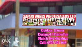 Printing of Banner or Sticker for Bar Display at affordable offer