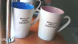 Engraved Mugs with text. Ideal gifts for any time of the year.