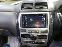 Double din pioneer screen touch radio DVD player