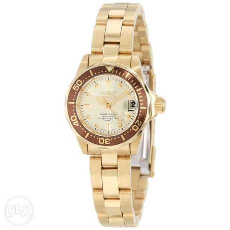 Invicta Women's 12527 Pro-Diver 18k Gold Ion-Plated Stainless Steel an